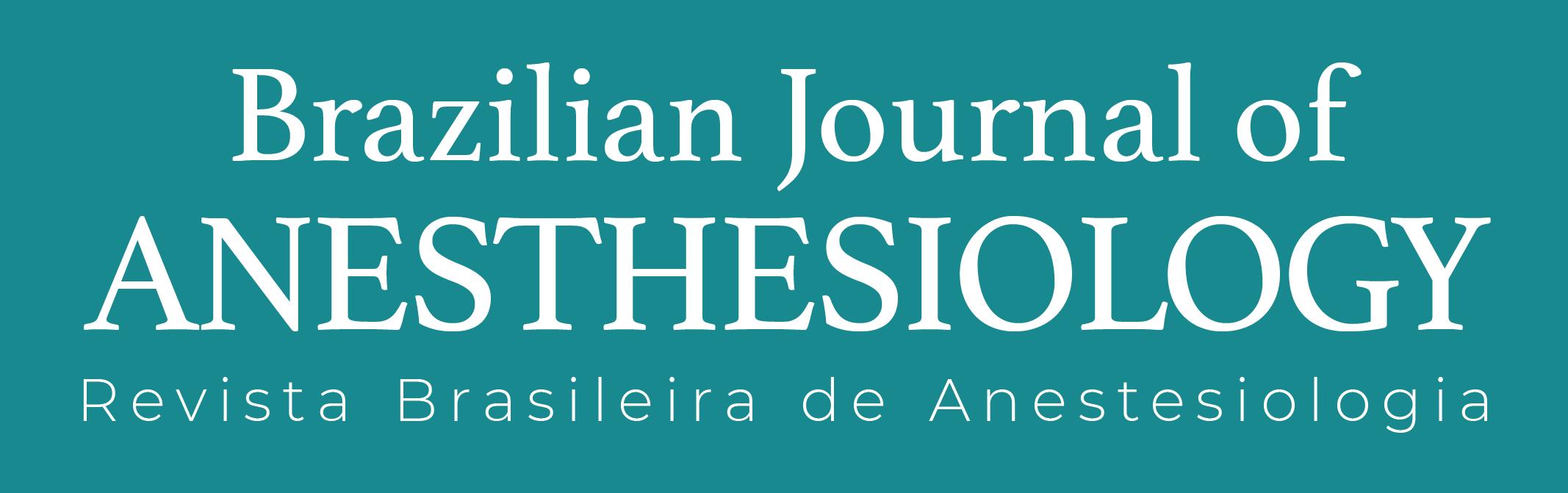 Logomarca do periódico: Revista Brasileira de Anestesiologia